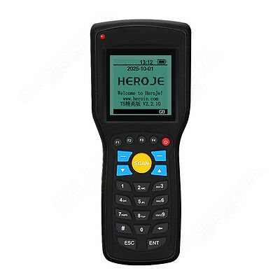 T5 EAN13 UPCA/E Wireless Barcode Laser Scanner Data Inventory Collector Terminal