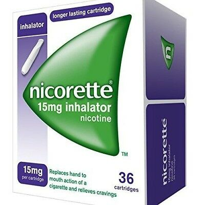 Nicorette Inhalator 15mg Cartridges 36 in total