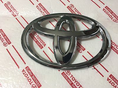 *new Toyota Grille Emblem Fits Avalon Highlander Rav4 Chrome Oem Genuine