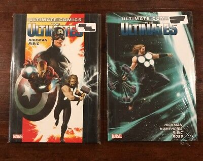 Ultimate Comics Lot of 2-The Ultimates Vol 1 & Vol 2 Hardcover SEALED Marvel