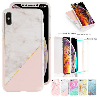 Case for iPhone 6 7 8 5s Plus XS Max Cover 360 Shockproof Hybrid Glass Protector
