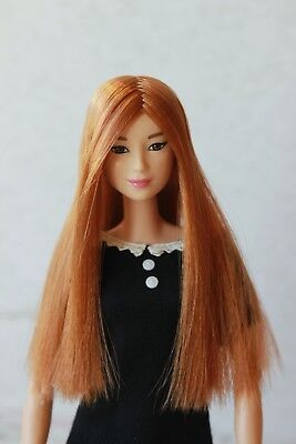 Ginger Long wig for Barbie doll 4 inch