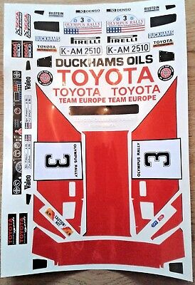 TOYOTA CELICA VINTAGE TAMIYA LOSI HPI KYOSHO PRECUT STICKERS RC DECALS 1/10th