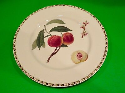 """QUEEN'S Fine China HOOKER'S FRUIT  Peaches Dinner Plate - 10 7/8"""" NEW Old Stock"""