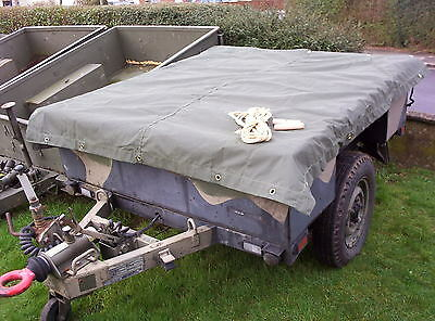 genuine land rover military sankey 3/4 ton trailer canvas cover new