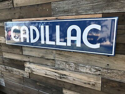 Antique Vintage Old Style Cadillac Service Station Sign
