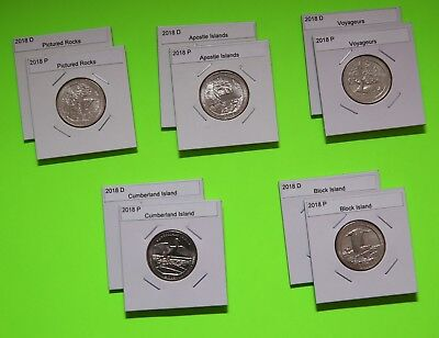 2018 PD America The Beautiful Quarters(ATB) 10 Coin Set-Mint Bags-Free Shipping