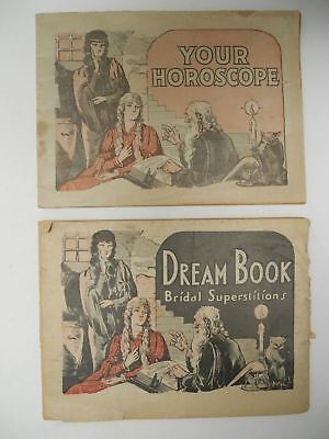 Antique DREAM BOOK and YOUR HOROSCOPE Booklet Advertising Dr. Pierce's Medicines