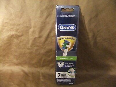 ORAL-B FLOSS ACTION BACTERIA GUARD BRISTLES REPLACEMENT BRUSH HEADS 2 pack