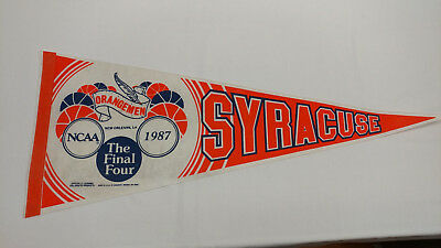 "1987 NCAA Final Four Syracuse University SU Orange Orangemen 29"" Pennant"
