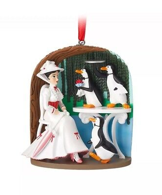 Disney Store 2018 Mary Poppins Jolly Holiday Sketchbook Ornament Boxed New