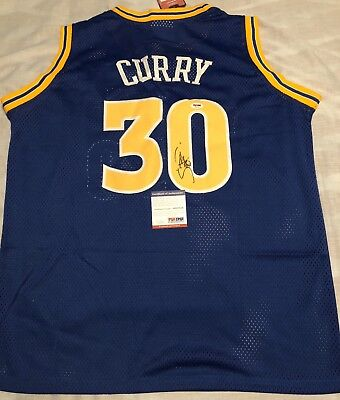 db609eec4 Stephen Curry Signed Autographed Jersey Golden State Warriors NBA Champs  Psa Dna