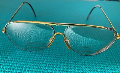Vintage Valentino 305 Aviator Eyeglasses Frame Only Good Used Condition Rx Lens
