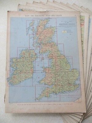 THE DUNLOP TOURING MAPS OF THE BRITISH ISLES - maps on boards, 1930s