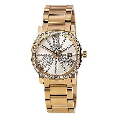 Wittnauer Women's WN4008 Quartz Crystal Accents Rose Gold Tone 36mm Watch
