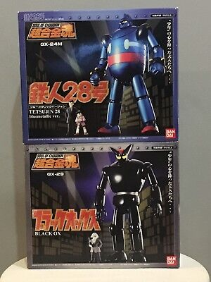 Bandai Soul of Chogokin Tetsujin 28 GX-24M & Black OX GX-29 Action Figure Toys