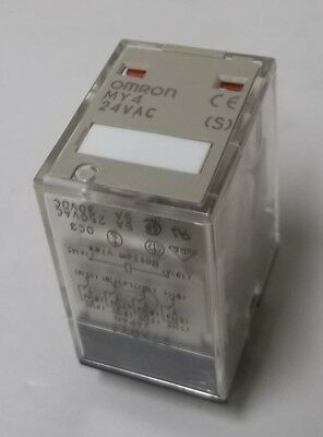 Omron GP Latching Lever 4PDT Miniature Cube Style 3A Relay 24VAC Coil MY4N-AC24S