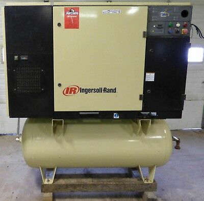 Ingersoll Rand SSR UP6-30-125 Rotary Screw Air Compressor Dryer Low Hours!!