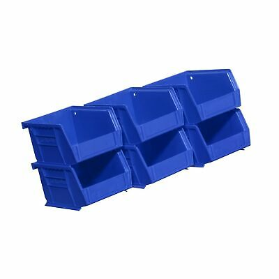 Akro-Mils 08212Blue 30210 Plastic Storage Stacking AkroBins for Craft and Har...