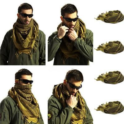 Men Womens Military Arab Tactical Desert Army Shemagh KeffIyeh Scarf Scar! 656a283e1