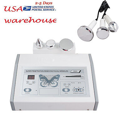 【USA】New Ultrasound Ultrasonic Anti Aging Facial Skin Spa Beauty Care Device