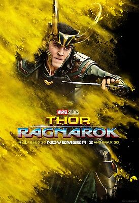 Thor Ragnarok Movie Poster (24x36) - Chris Hemsworth, Tom Hiddleston, Loki v7