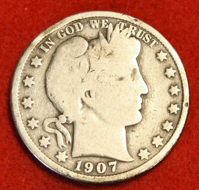 1907-P 50C Barber Half Dollar G Beautiful Coin Check Out Store Bh530