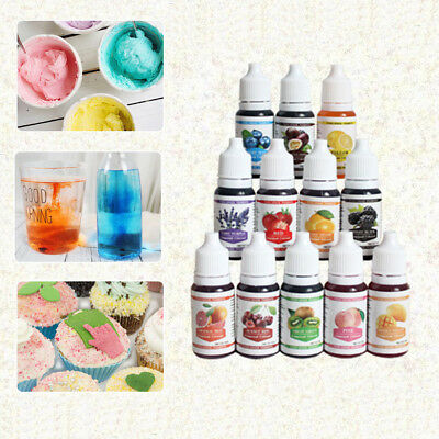 Hot 10 Color Macaron Cake Food Coloring Decorating Baking Set - Pastry Tools New