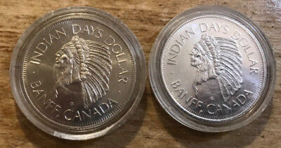 Canada 1978  DR. Charlie Bell Memorial Coin  set of 2 Coins Indian days dollar