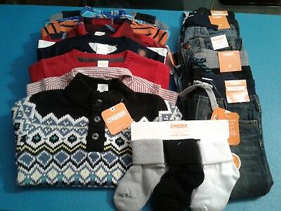Nwt $407 Rv Gymboree  Boys Size 2T 16 Pcs  Lot Outfits Fall Winter