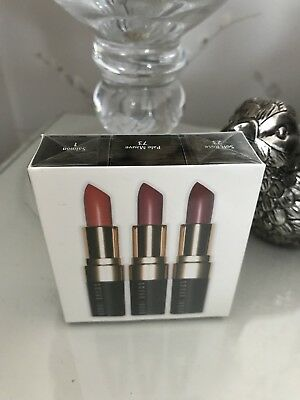 Bobbi Brown Lipstick Trio Brand New In Sealed box salmon, soft rose, pale mauve