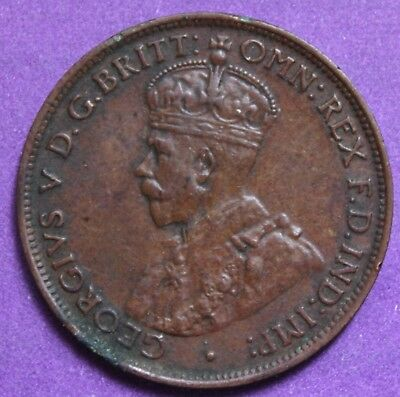 1925  KGV HALF PENNY - RARE and Circulated Coin,  Great Investment