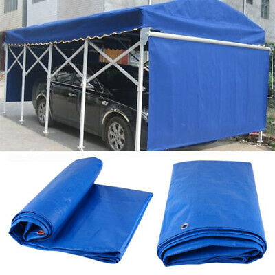 Waterproof Tarpaulin Ground Sheet Camping Cover Tarp Eyelets Outdoor Protector