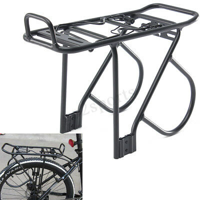 60KG Alloy Rear Bicycle Pannier Rack Carrier Bag Luggage Cycle Mountain Bike AU