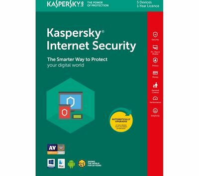 Kaspersky Internet Security 2018 5pc   5 Devices 1 Year License Download