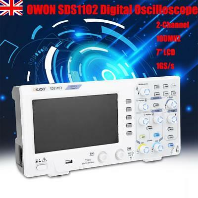 "UK OWON SDS1102 Digital Oscilloscope 2-Channel 100MHZ 7"" LCD 1GS/s High Accuracy"