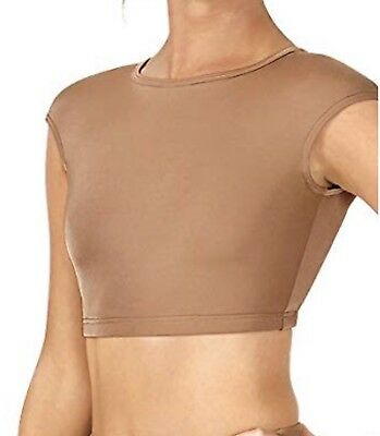 Brand New Body Wrappers Adult Cap Sleeve Open Back Dance Crop Top,NL9021 XS