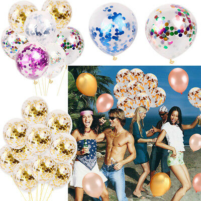 5/10/20PCS hen Kids party confetti filled Weeding Xmas Helium Birthday balloons