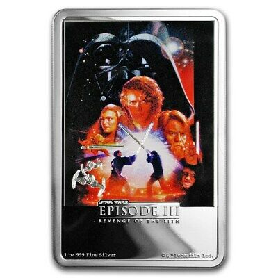 Niue -2018- Silver $2 Proof Coin- 1 OZ Star Wars:Revenge of the Sith