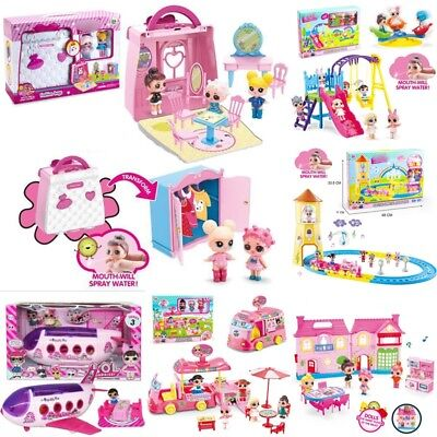 Kids LOL Surprise Doll Camper Car Playset Bus Aircraft Figure Toy Girl Xmas Gift