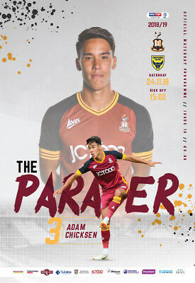 18/19 Bradford City v Oxford Utd