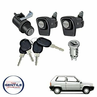Fiat Panda 141 Kit Serrature Completo Porte Cofano Post. Accensione Con Chiavi