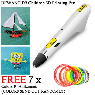 D9 3D Printing Drawing Pen Crafting Modeling DIY Art +FREE 7 Colors PLA Filament