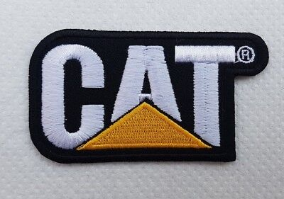 CAT Caterpillar Logo Embroidered Iron on Sew on Patch Badge Dress Transfer N-419