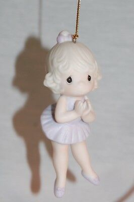 "Precious Moments 102423 ""lord, Keep Me On My Toes"" 1986 Ballerina Ornament !"