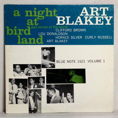 Art Blakey - A Night At Bird Land Vol.1 -Japan Blue Note Lp Gxf3033 Insert