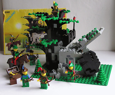 Lego 6066 Castle Forestmen Camouflaged Outpost Original Instructions