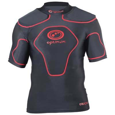 Optimum Origin Protective Top Rugby Boys/Kids Black/Red BRAND NEW Size MB