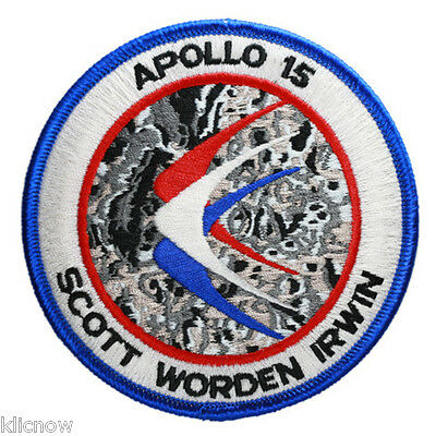 Apollo 15 Mission Embroidered Patch (Official Patch) 10cm Dia approx
