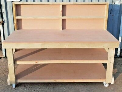 MDF Wooden Workbench - 4FT to 8FT - Work Table - Industrial Bench - Heavy Duty!